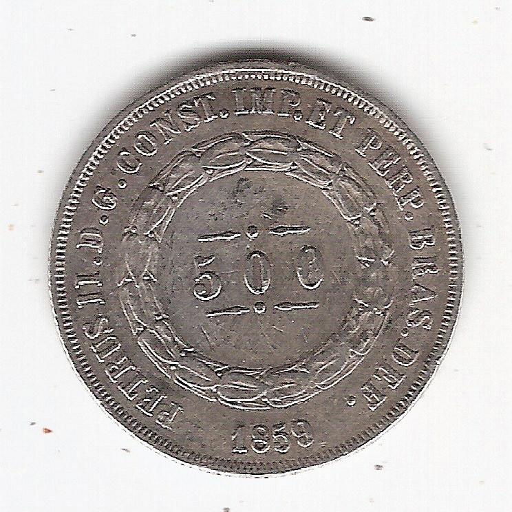 500 Reis - 1859 - mbc/sob (592)=2