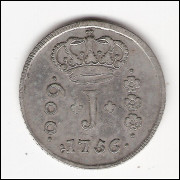 600 reis - 1756 data emendade de 55 - Série de JOTAS
