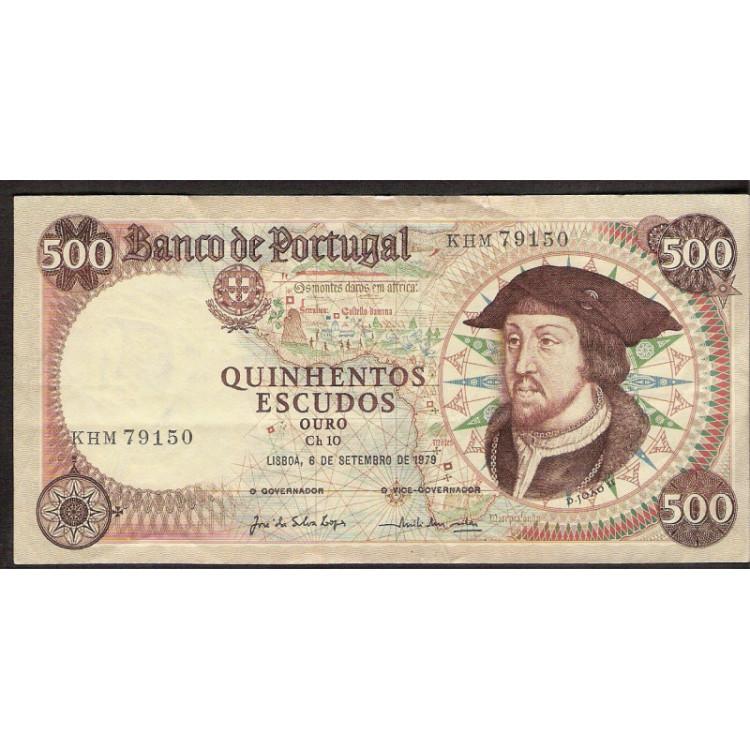 PORTUGAL - 500 Escudos Ouro - 1979 - P.170b - mbc/sob