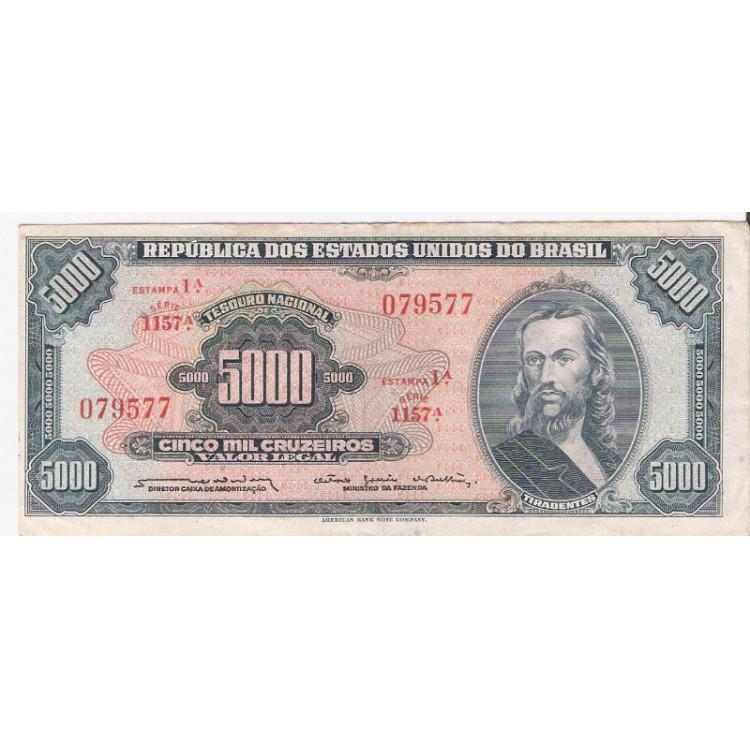 C-058 - CINCO MIL CRUZEIROS - 1964 - mbc/sob