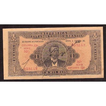 R-080 - 1.000 reis - 1923 - sob/fe
