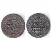 XX reis - 1753 - data entre pontos - mbc/sob