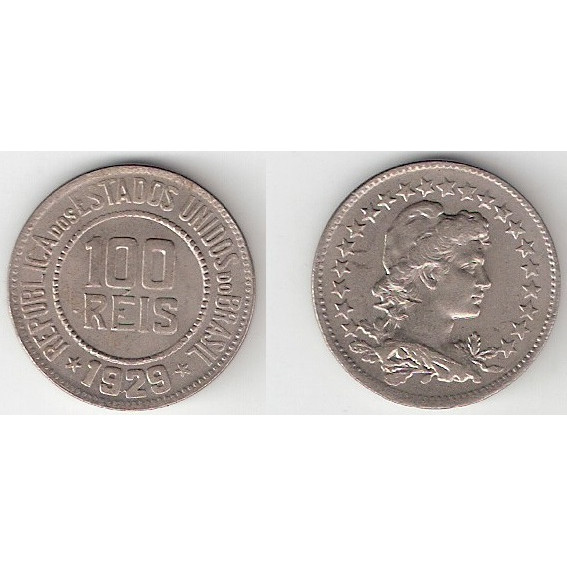 100 reis - 1929 - cupro-niquel -  FC (V083)