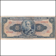 C-021 -VINTE CRUZEIROS - AUTOGRAFADA - 1943 - mbc (S.348)