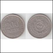 200 Reis - 1876 - cupro-niquel - data ESCASSA