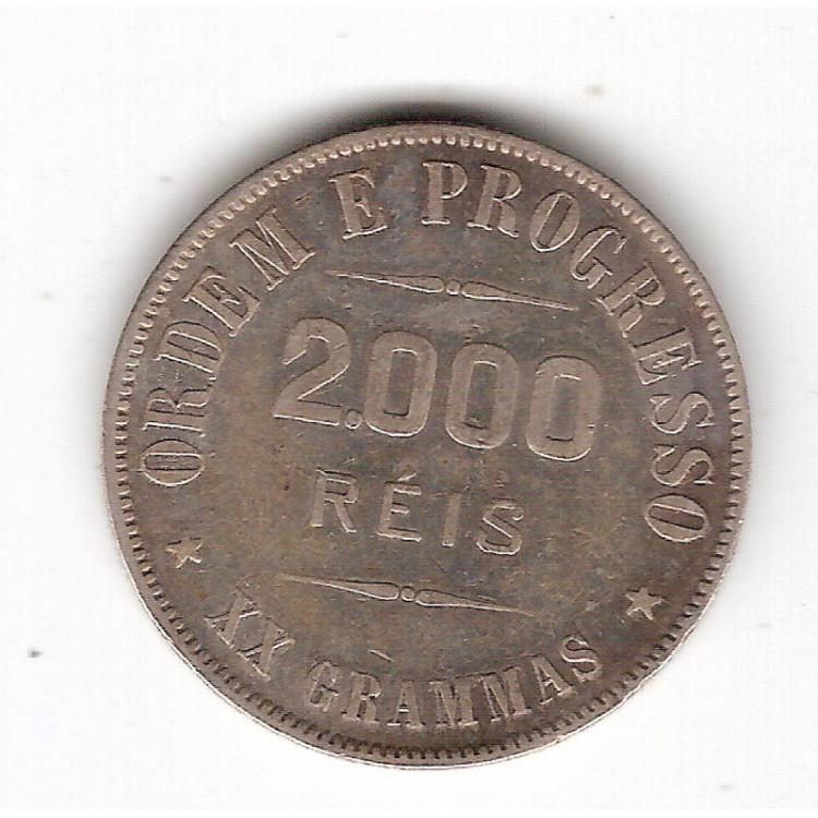 2000 Reis - 1912 - XX Grammas - mbc/sob (700)