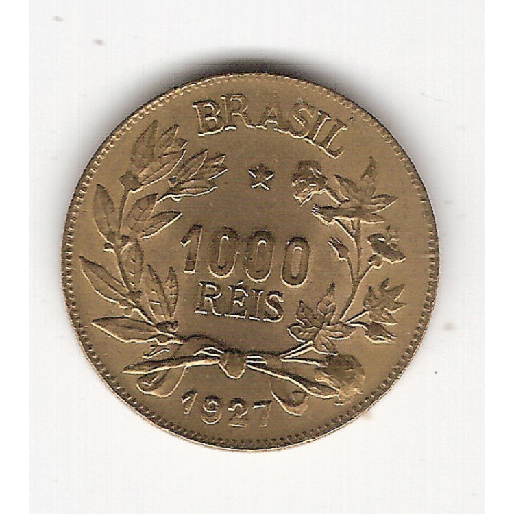 1927 -1000 Reis - Simbolo da Fortuna - FC (V130)