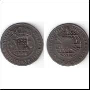 XX Reis - 1796 - c/c Escudete - coroa baixa - SOB