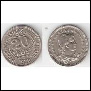 20 Reis - 1920 - cupro niquel - FC