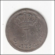 150 Reis - 1754 R - série de JOTAS - ATAN NGIS