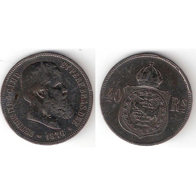 40 Reis - 1876 - mbc/sob -  ESCASSA (793)