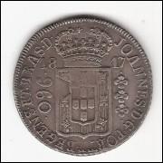 960 Reis - 1817 RIO - var.47a- RARISSIMA - (427)