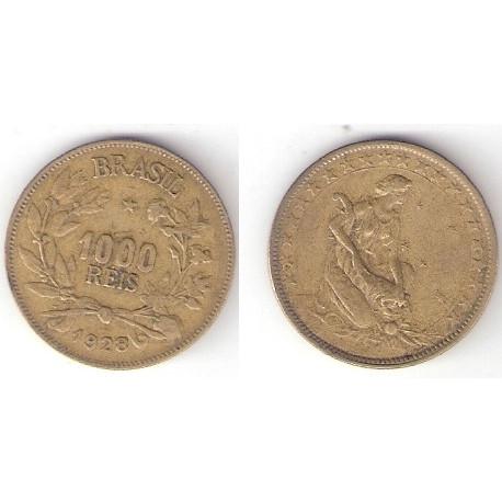 1928  - 1000 Reis - Simbolo da Fortuna - mbc/sob