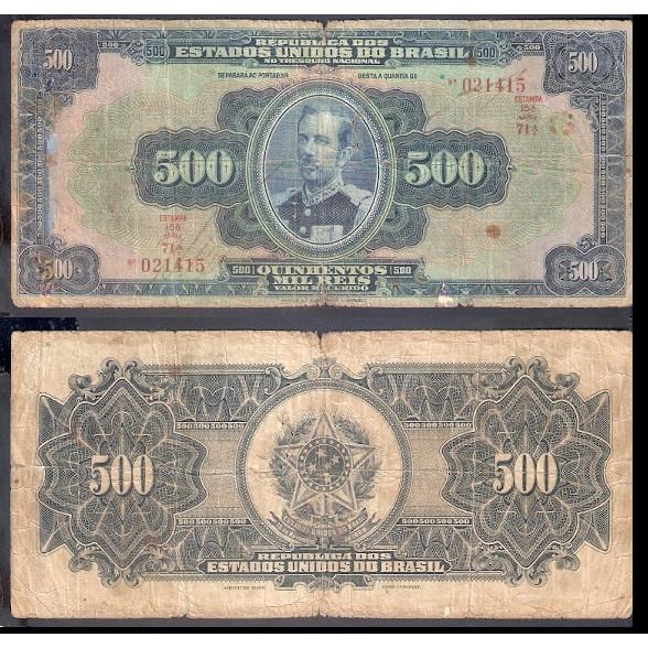 R-163c - 500.000 Reis - 1936 - bc/mbc