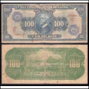 C-006 - CEM MIL REIS c/carimbo de 100 Cruzeiros - 1942 - mbc