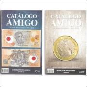 CATALOGO AMIGO - CÉDULAS E MOEDAS - LANÇAMENTO- DOIS EM UM