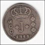 300 reis - 1755 R - série de JOTA