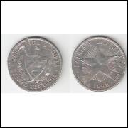 CUBA = 20 CENTAVOS - 1948 - prata 0.900 - km 13,2