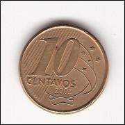 10 centavos  2002 (V489b)#001- reverso horiz esquerdo - ERRO