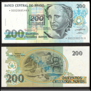 C-212a(*) - DUZENTOS CRUZEIROS - 1990 - c/* s.0002 - FE