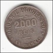 2000 Reis - 1906 - XX grammas - com -O- aberto mbc (695c)=2