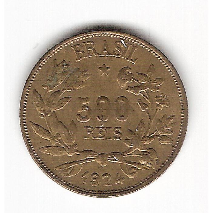 1924 - 500 reis - Simbolo da Fortuna -  sob (V124)