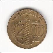 1938 - 2000 reis - Duque de Caxias  - POLIGONAL  - FC (V162A)