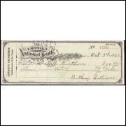 CHEQUE UNION NATIONAL BANK de Mahanoy de 1922 - #7 ENVIO GRATIS