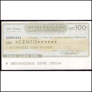 VALE DE 100 LIRAS do BANCO CATOLICO DE VENETO de 1976 #2