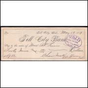 CHEQUE TELL CITY BANK - de 1889 #15 ENVIO GRATIS