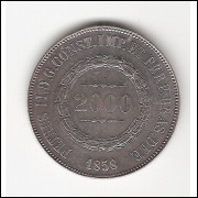 2000 Reis 1858 - DATA EMENDADA  sob (620)