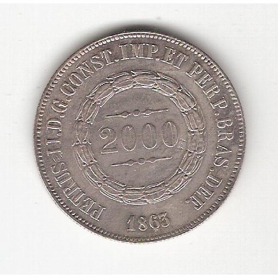 2000 Reis 1863 - sob/fc (622)