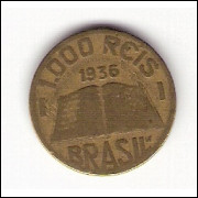 1936 - 1000 Reis - José de Anchieta mbc (157)