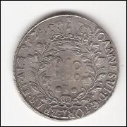 960 reis - 1820 Bahia - var. 3b -s/ Lima -  mbc/sob (462)