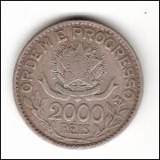 2000 Reis - 1913 - Estrelas Soltas - mbc/sob (708)=2=