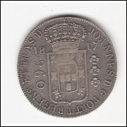 960 reis - 1817 Rio - var.55A - mbc/sob - s/Mexico