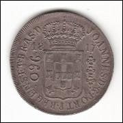 960 reis - 1817 Rio - var.29C - sob - (427)