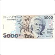 C-219a(*) - CINCO MIL CRUZEIROS  1990  C/(*)s.0001 - FE