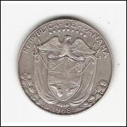 PANAMÁ - 1/2 Balboa - 1968 - km 12.1