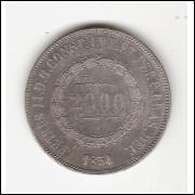 2000 Reis - 1854 - ESCASSA - sob (616)=2