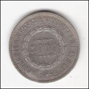 2000 Reis - 1853 - mbc/sob (615)=2
