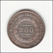 200 Reis - 1867 - FC (585)