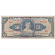 C-025 -CINQUENTA CRUZEIROS - 1956 - mbc (s.358)