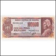 BOLIVIA 100000 Pesos Bolivianos - P.171 FE =2