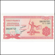 BURUNDI 20 Francs 2007 - P.27D  FE =2