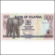 UGANDA 500 Schillings 1991 P.33b- FE =2
