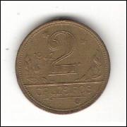 1942 - 2 CRUZEIROS - mbc/sob (238)