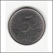 5 Centavos/Real - 1995 - defeito de cunhagem  (443b) #12