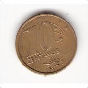 10 Centavos/Real -2001- falha na cunhagem  #15