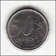 50 Centavos/Real -2008- falha no reverso (535a) #17